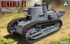 1004 French Light Tank Renault FT-17 (3 in 1)