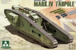 2015 WWI Heavy Battle Tank Mark IV Male Tadpole w/Rear mortar